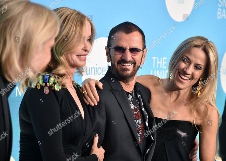 Stock Picture of Joe Walsh, Barbara Bach, Ringo Starr and Sheryl Crow