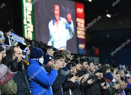 Stock Image of Leeds United fans remember their former player Gary Speed