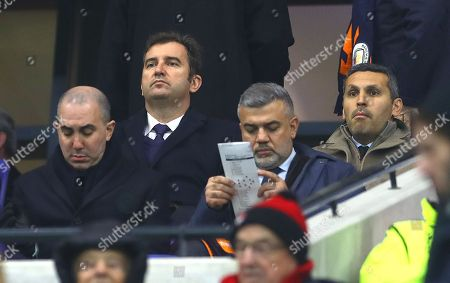 Manchester City chief executive officer Ferran Soriano and chairman Khaldoon Al Mubarak in the stands