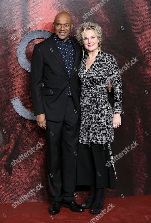 Stock Picture of Colin Salmon and Fiona Hawthorne