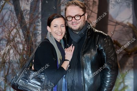 Ulrike Frank (L) and his husband Marc Schubring pose as they arrive for the premiere of the movie 'Bird Box' at the Zoo Palast venue in Berlin, Germany, 27 November 2018.