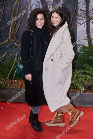 German actresses Gamze Senol (L) and Chryssanthi Kavazi (R) pose as they arrive for the premiere of the movie 'Bird Box' at the Zoo Palast venue in Berlin, Germany, 27 November 2018.