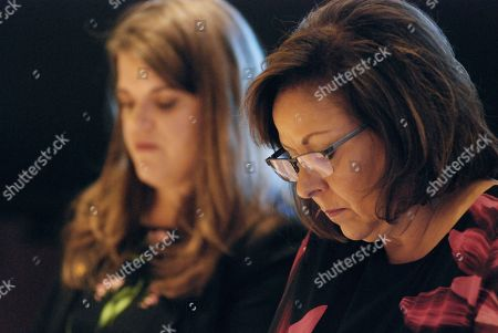 New Mexico Gov. Susana Martinez, right, and Secretary of State Maggie Toulouse Oliver, left, certify election results and order recounts in a handful of state House races in Santa Fe, N.M., on . New Mexico is certifying election results that give Democrats unfettered control of every statewide office and the state's five-member delegation to Capitol Hill