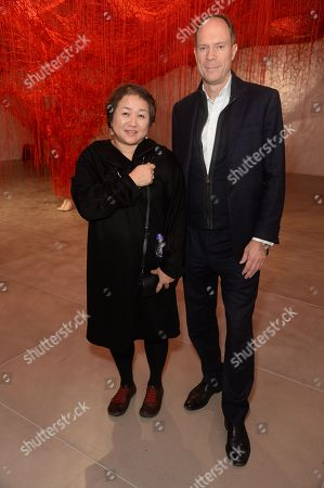 Stock Picture of Chiharu Shiota and Harry Blain