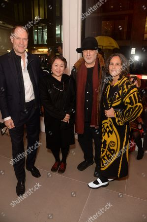 Harry Blain, Chiharu Shiota, Ron Arad and wife
