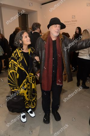 Stock Photo of Ron Arad and wife