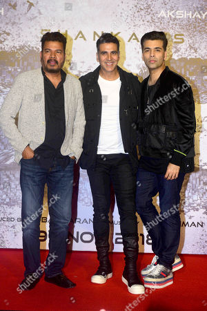 Bollywood director S. Shankar, actor Akshay Kumar and producer Karan Johar
