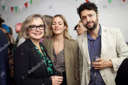 Caroline Douglas, Carolina Mazzolari and Conrad Shawcross