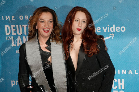 Stock Photo of German director Annette Ernst (L) and French-Austrian actress Roxane Duran pose during the premiere of the Franco-German comedy 'Deutsch-les-Landes' in Paris, France 27 November 2018.