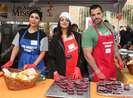 Editorial image of Los Angeles Mission Annual Thanksgiving for the Homeless, USA - 21 Nov 2018