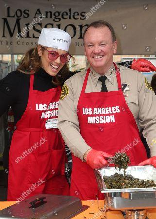 Sandra Taylor, L.A. County Sheriff Jim McDonnell