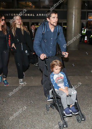 Christian Bale, Sibi Blazic, and children Joseph and Emmeline