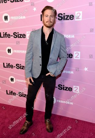 """Stock Photo of Gavin Stenhouse arrives at the world premiere of """"Life-Size 2"""" at the Hollywood Roosevelt hotel, in Los Angeles"""