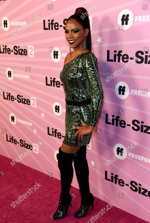 """Shanica Knowles arrives at the world premiere of """"Life-Size 2"""" at the Hollywood Roosevelt hotel, in Los Angeles"""