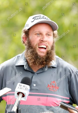 Andrew Johnston during a media call at the Pro-Am of the Australian PGA Championships at the Royal Pines Resort on the Gold Coast, Australia, 28 November 2018. (
