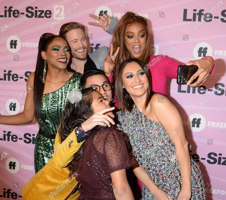 Tyra Banks, Francia Raisa, Shanica Knowles and Gavin Stenhouse
