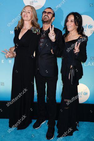 Stock Picture of Barbara Bach, Ringo Starr, Olivia Harrison