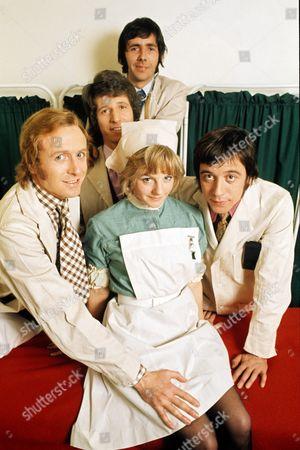 'Doctor in Charge'   TV Geoffrey Davies, George Layton, Richard O'Sullivan, Robin Nedwell and Sammie Winmill.